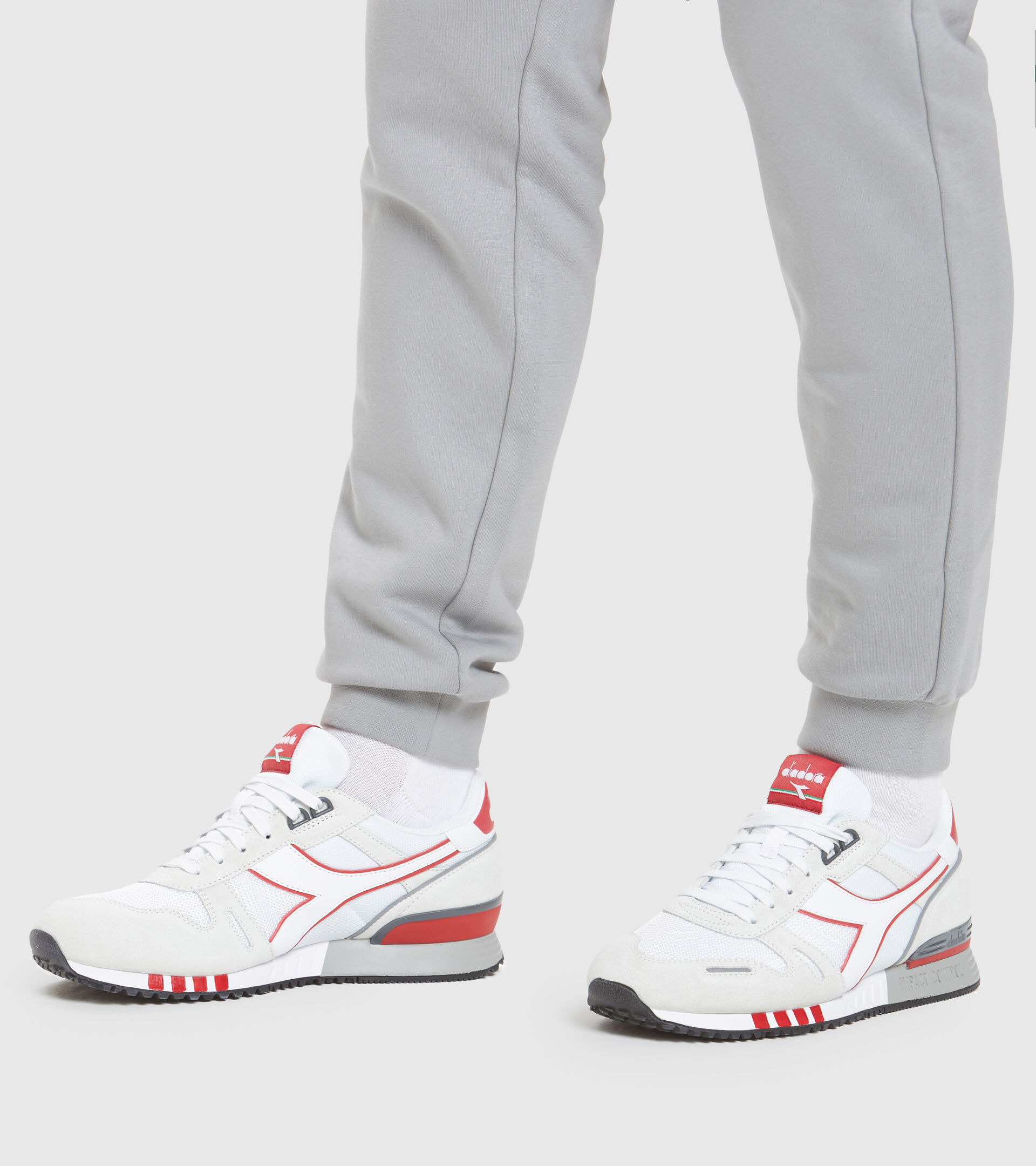 Sports shoe - Men TITAN WHITE/RED CAPITAL - Diadora