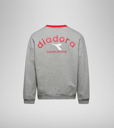 Apparel Sportswear UNISEX SWEATSHIRT CREW ATLETICO GRIGIO MELANGE MEDIO CHIARO Diadora