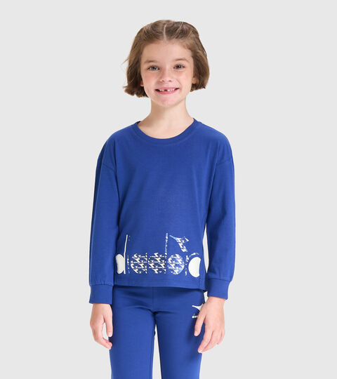 Camiseta de manga larga - Niños JG.T-SHIRT LS TWINKLE AZUL  CREPUSCULO - Diadora