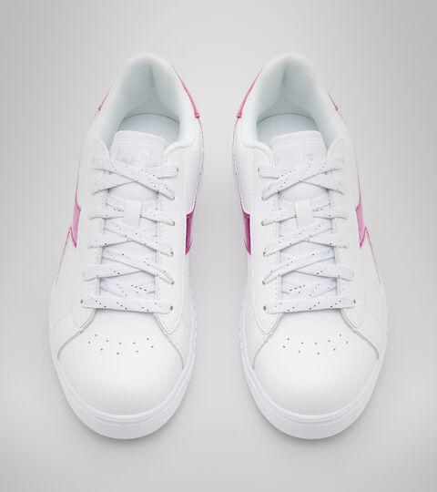 Sports shoes - Youth 8-16 years GAME STEP DIAMONDS GS WHITE/FUCHSIA PINK - Diadora