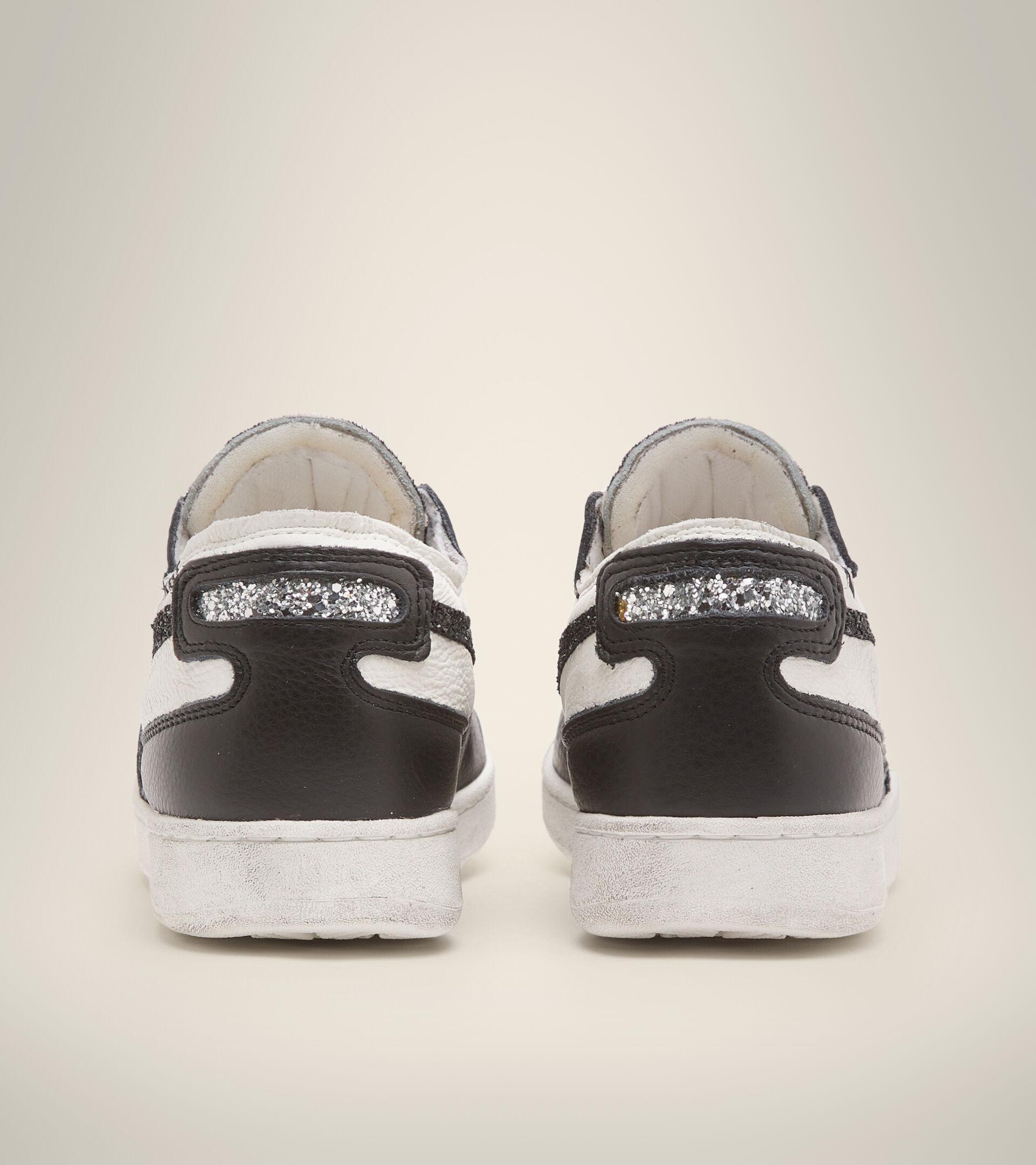Heritage shoe - Women MI BASKET ROW CUT JUNGLE WN WHITE/BLACK - Diadora