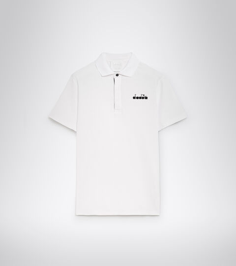 Tennis polo shirt - Men POLO STATEMENT SS OPTICAL WHITE - Diadora