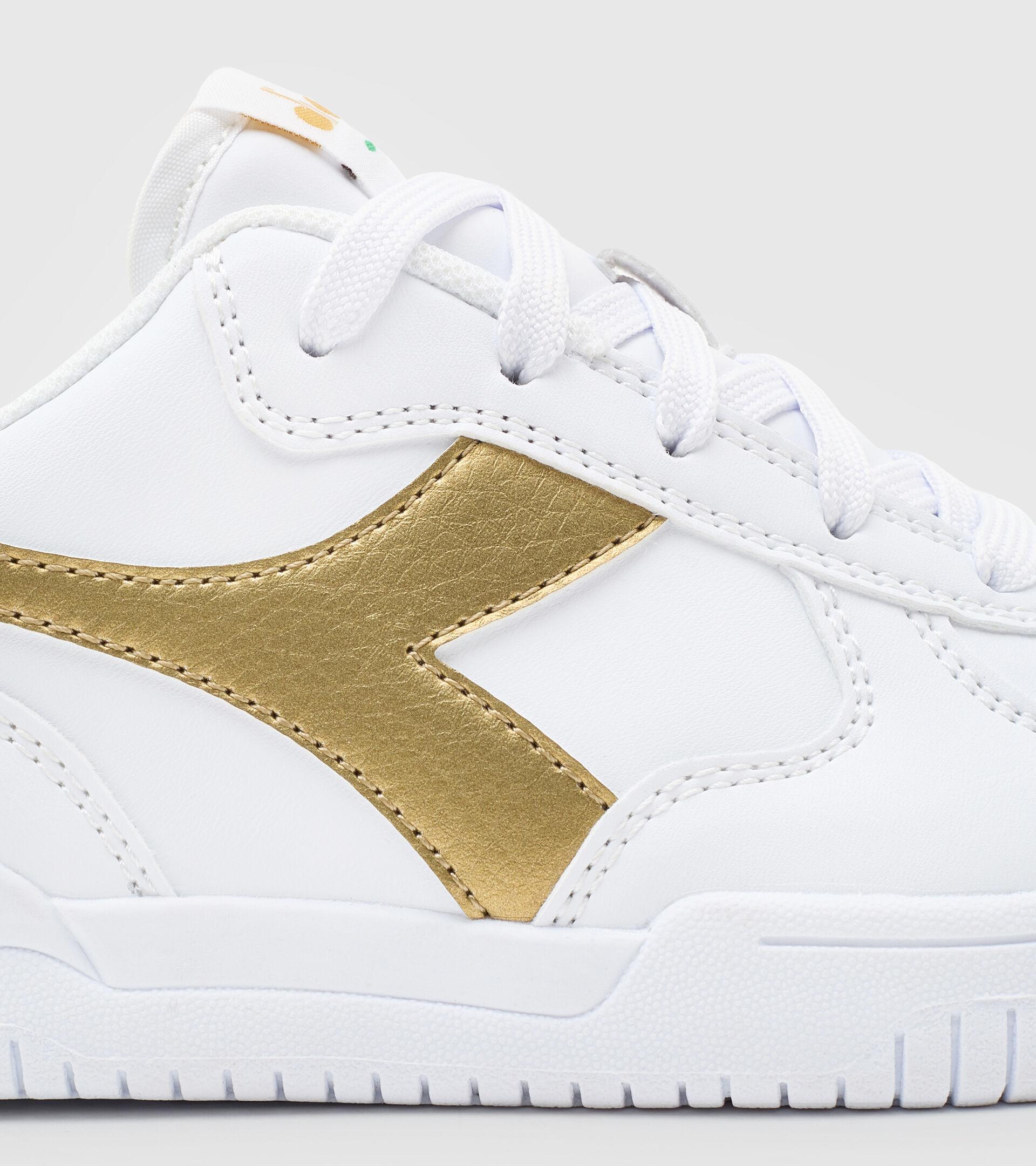 Footwear Sport BAMBINO RAPTOR LOW GS WHITE/GOLD Diadora