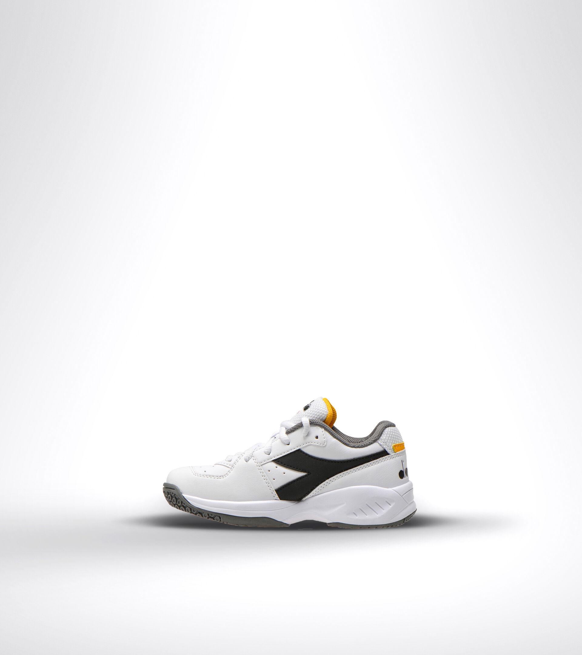 Chaussures de tennis pour terrains durs et terre battue - Unisexe Enfant S. CHALLENGE 3 SL JR BLANC/NOIR/SAFRAN - Diadora