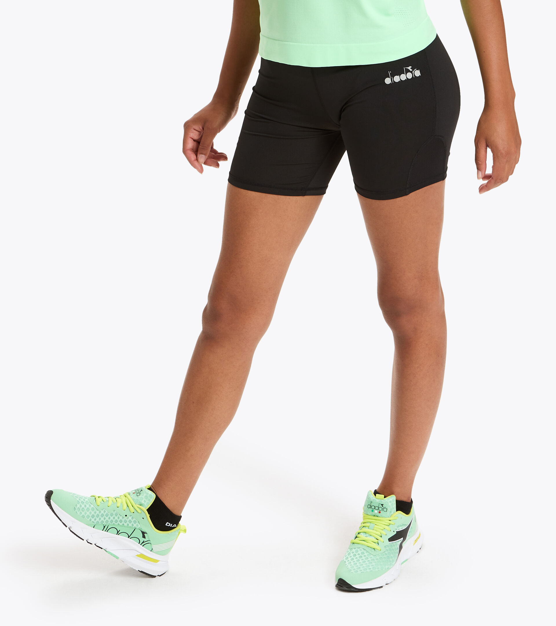 Shorts da running - Donna  L. SHORT TIGHTS NERO - Diadora