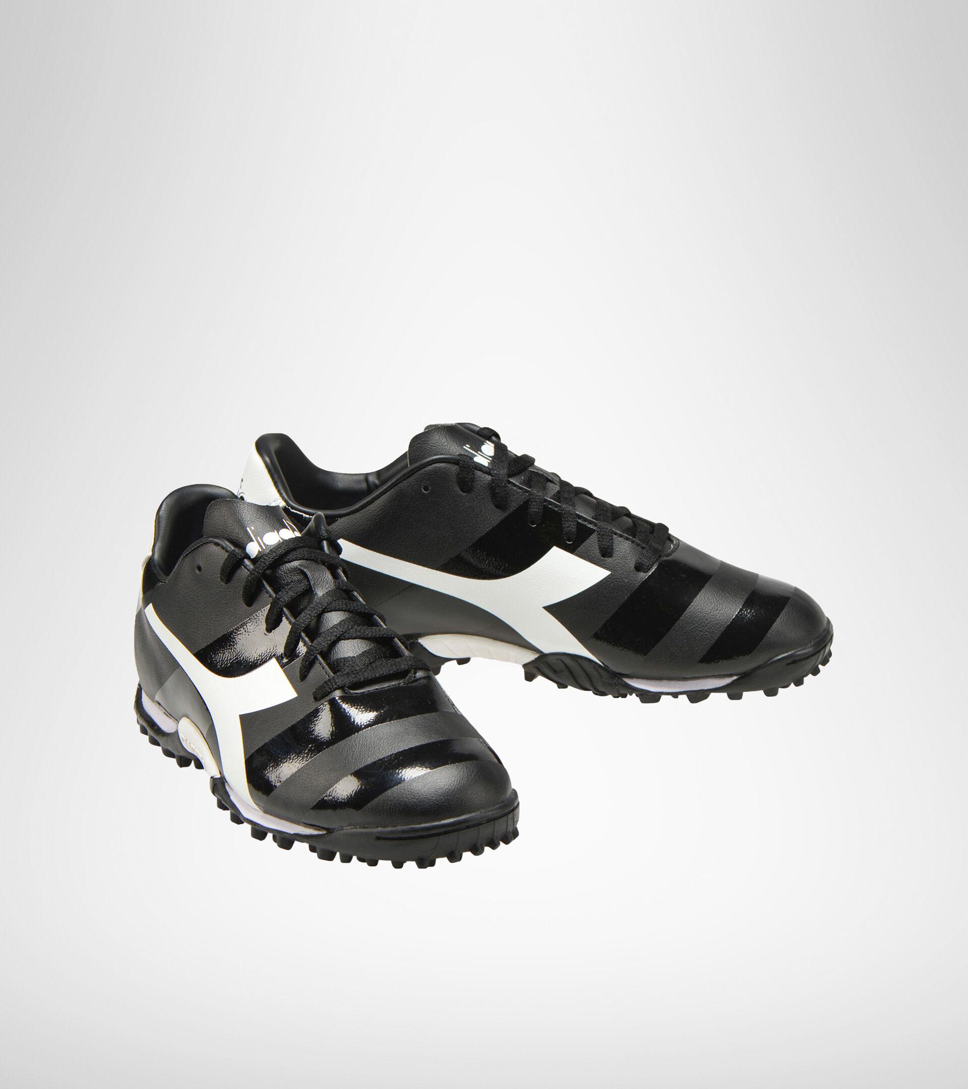 Chaussures de football pour terrains durs ou gazon synthétique RAPTOR R TF NERO/NERO/BIANCO - Diadora