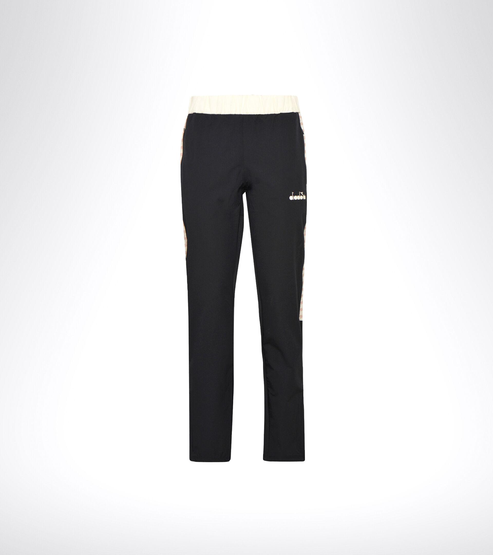 Apparel Sport DONNA L. PANTS CHALLENGE BLACK/MAHOGANY ROSE Diadora