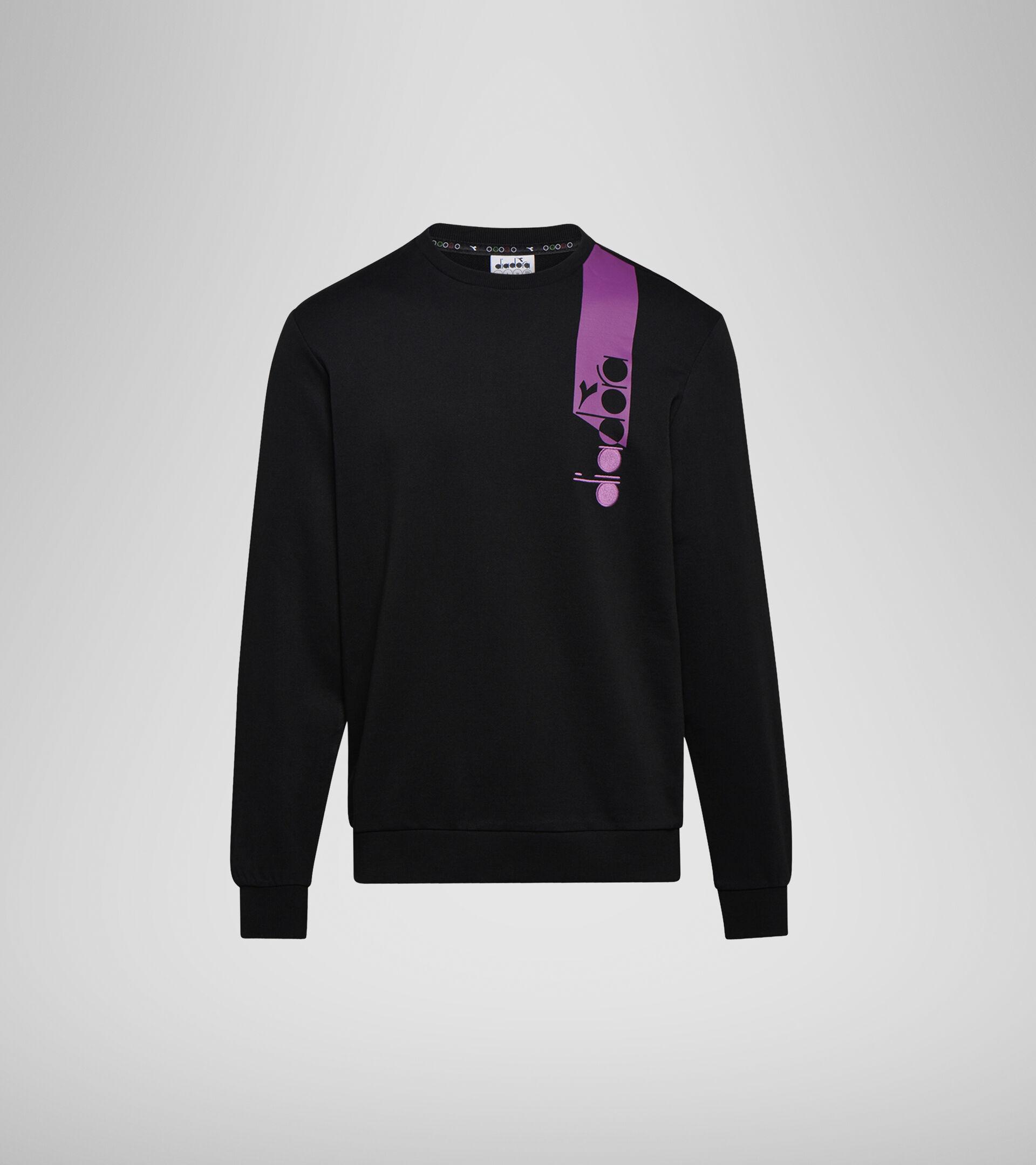 Apparel Sportswear UOMO SWEATSHIRT CREW ICON BLACK Diadora