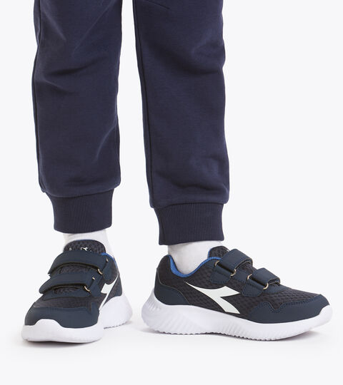 Chaussures de running - Unisexe enfant ROBIN 2 JR V NOIR IRIS/BLEU FÉDÉRAL/BLANC - Diadora