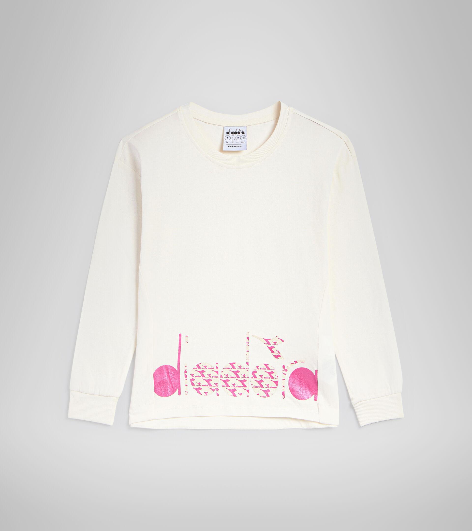 Long-sleeved T-shirt - Kids JG.T-SHIRT LS TWINKLE WHISPER WHITE - Diadora