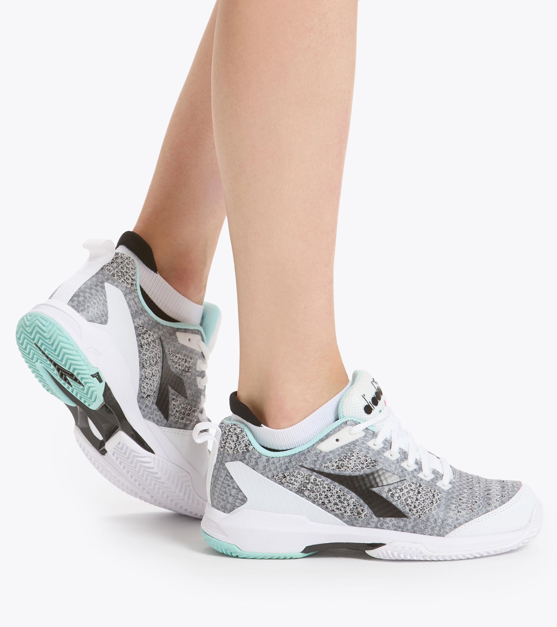 Footwear Sport DONNA S.SHOT 2 W CLAY BCO/GRIGIO ACIAIO/AZZURRO TINT Diadora