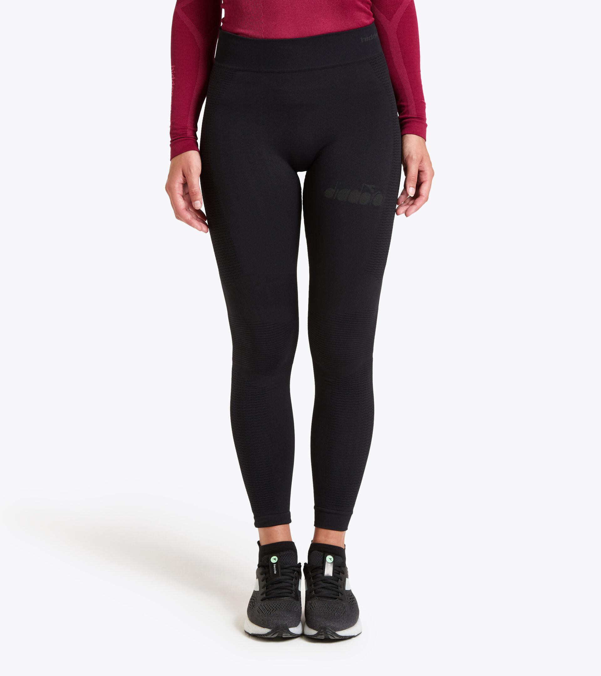 Pantalones para correr Made in Italy - Mujer L. HIDDEN POWER PANTS NEGRO - Diadora