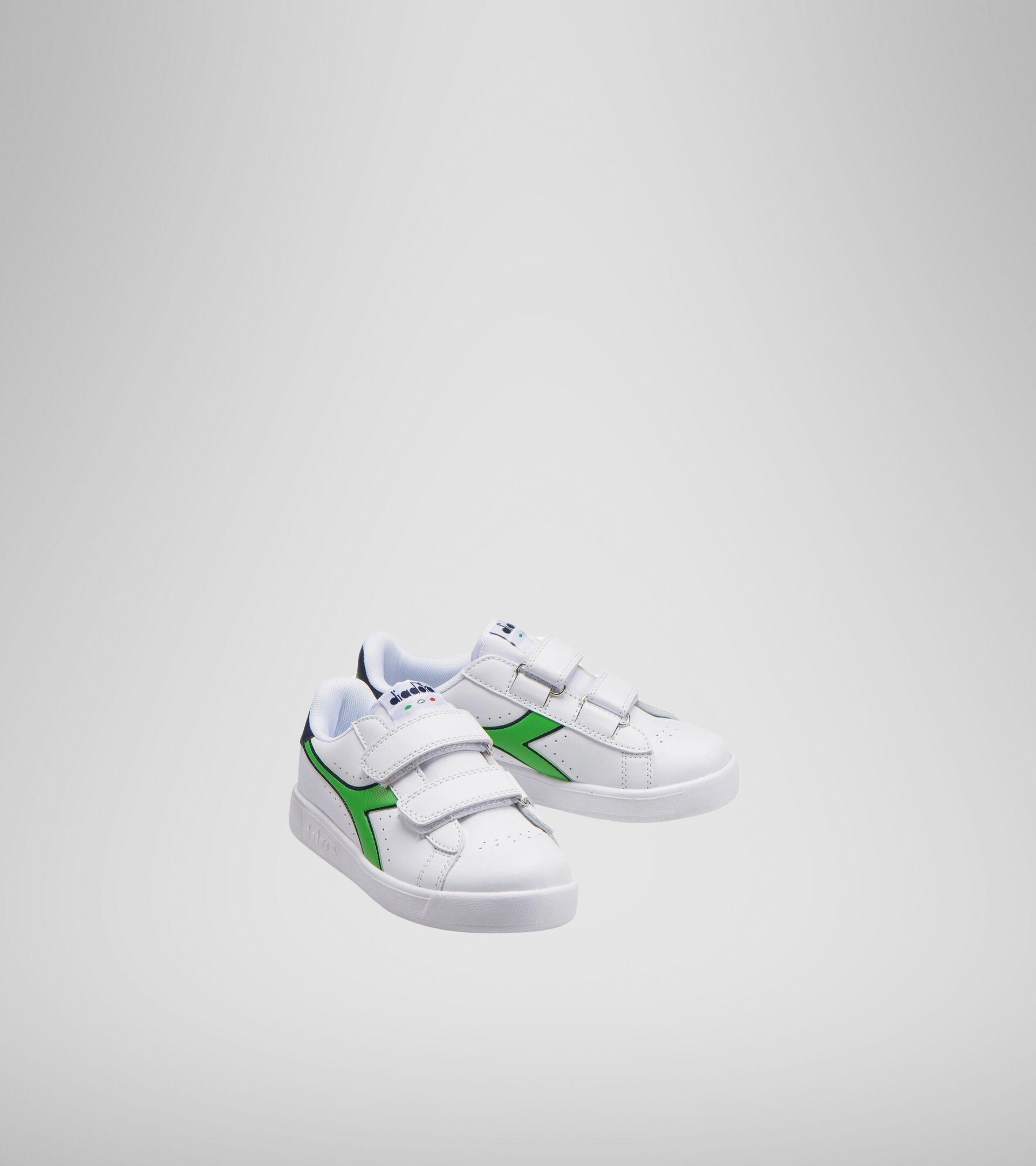 Chaussures de sport - Enfants 4-8 ans GAME P PS BLC/NOIR IRIS/VERT CLASSIQUE - Diadora