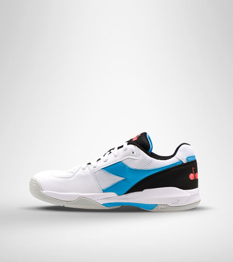 Footwear Sport UNISEX S.CHALLENGE 3 CARPET WHITE/BLUE FLUO Diadora
