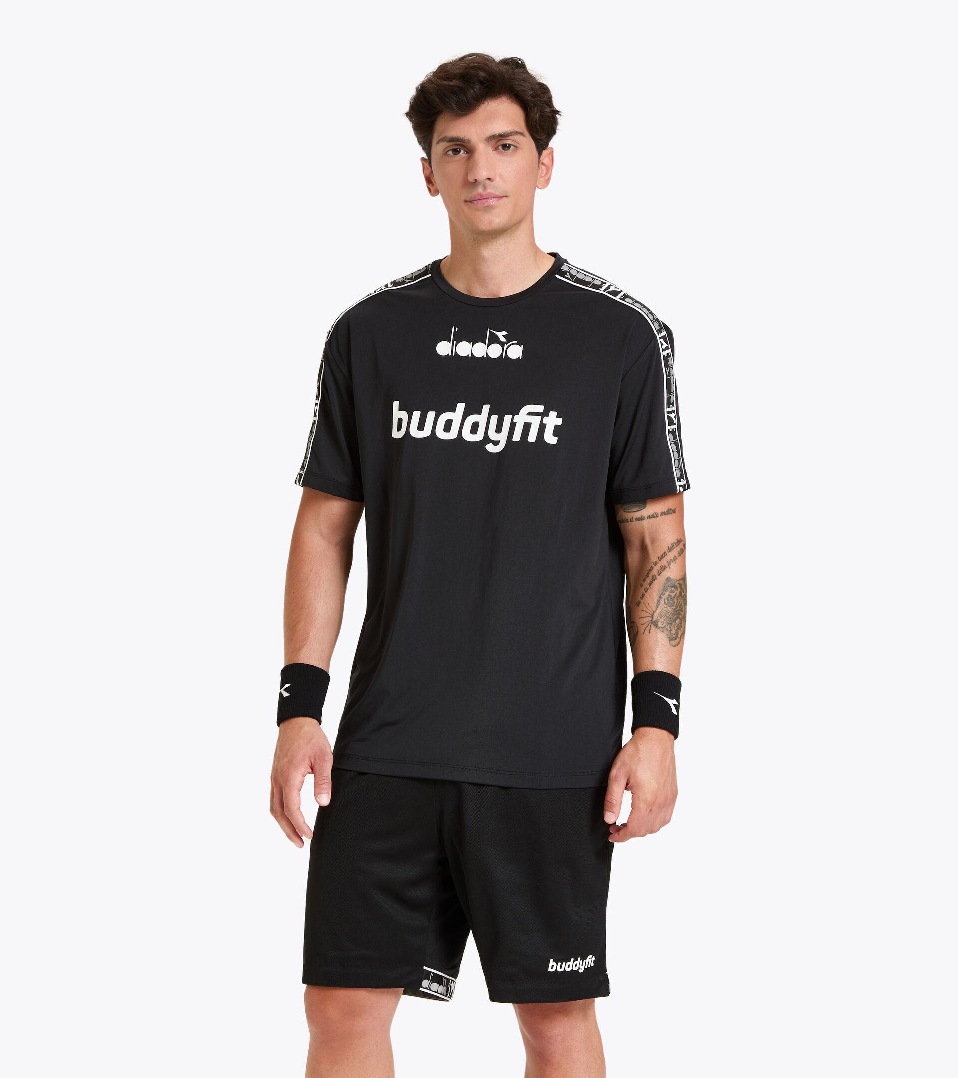Workout-T-Shirt für Herren SS T-SHIRT BUDDYFIT SCHWARZ - Diadora