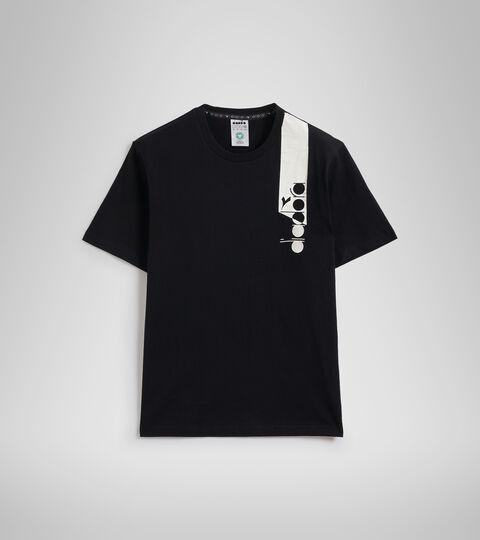 Apparel Sportswear UOMO T-SHIRT SS ICON DARK SMOKE/WHITE/BLUE FLUO Diadora