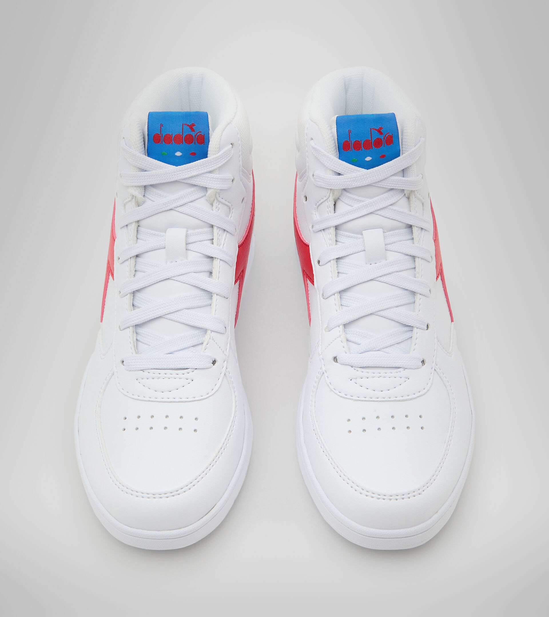 Footwear Sport BAMBINO RAPTOR MID GS WHITE/TOMATO RED Diadora