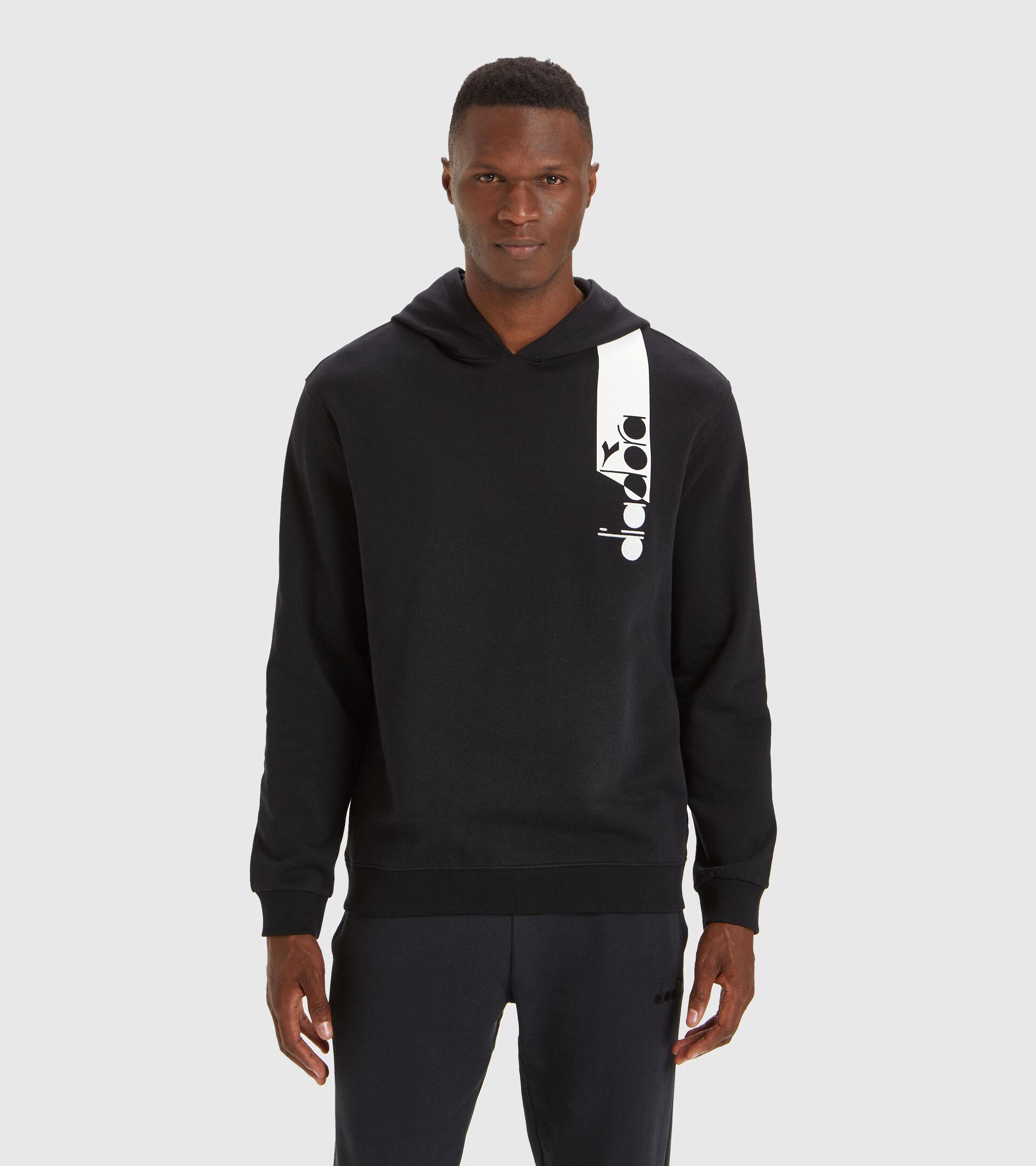 Apparel Sportswear UOMO HOODIE ICON HIERRO NUEVE/BLANCO/AZUL FLUO Diadora