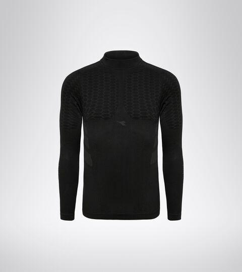 Long-sleeved training t-shirt - Men LS TURTLE NECK ACT BLACK - Diadora