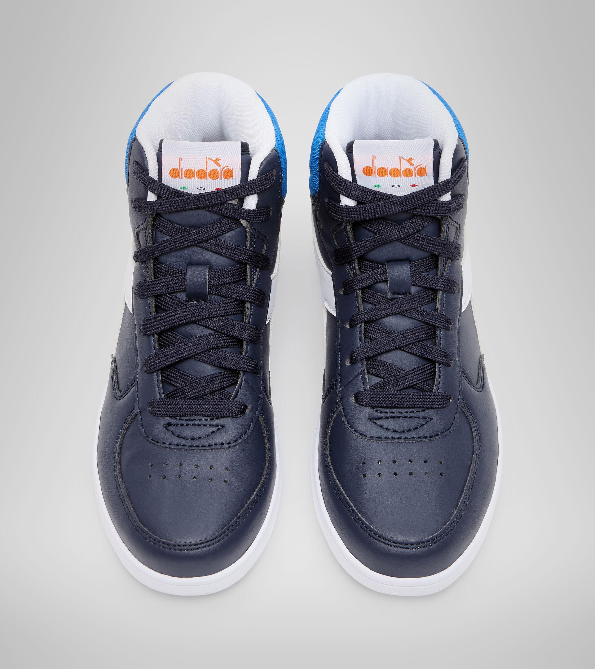 Footwear Sport BAMBINO RAPTOR MID GS BLUE CORSAIR/WHITE Diadora
