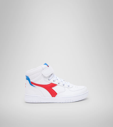 Sports shoes - Kids 4-8 years RAPTOR MID PS WHITE/TOMATO RED - Diadora
