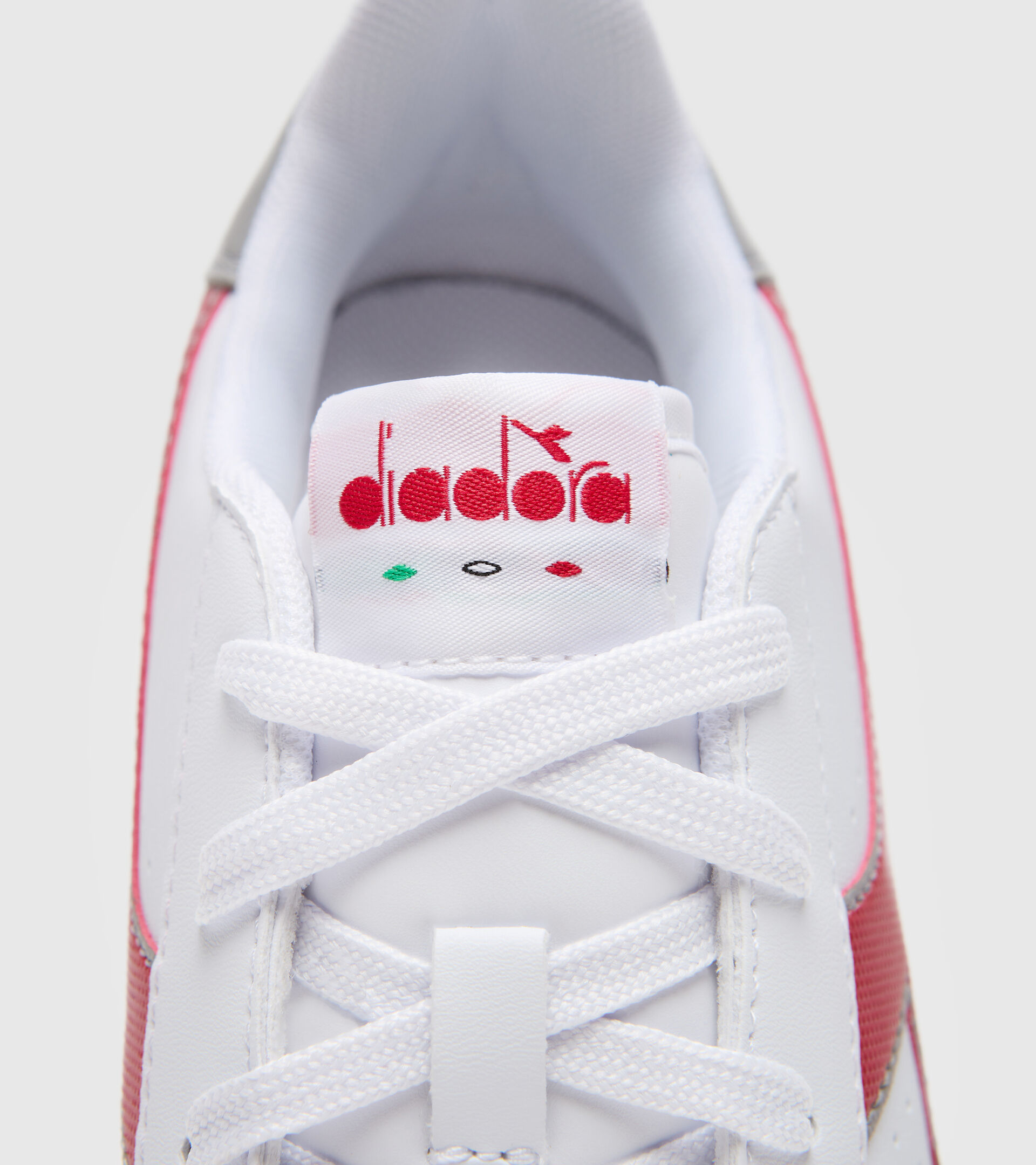 Footwear Sport BAMBINO GAME P GS BIANCO/ROSSO TANGO Diadora