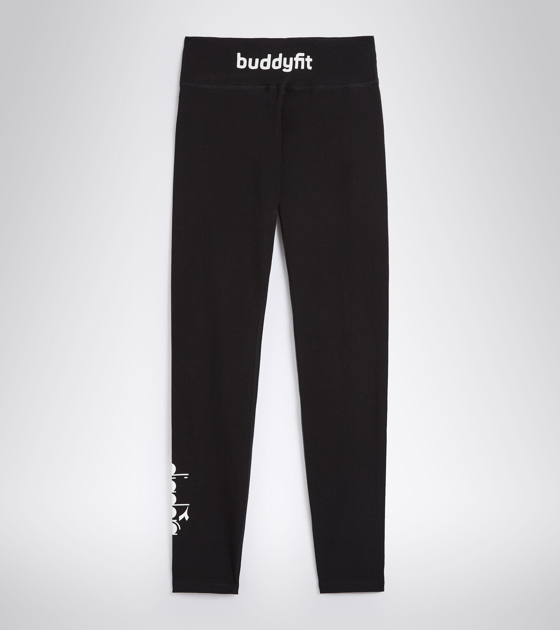 Leggings für Damen aus elastischem Baumwoll-Jersey L. STC LEGGINGS BUDDYFIT SCHWARZ - Diadora