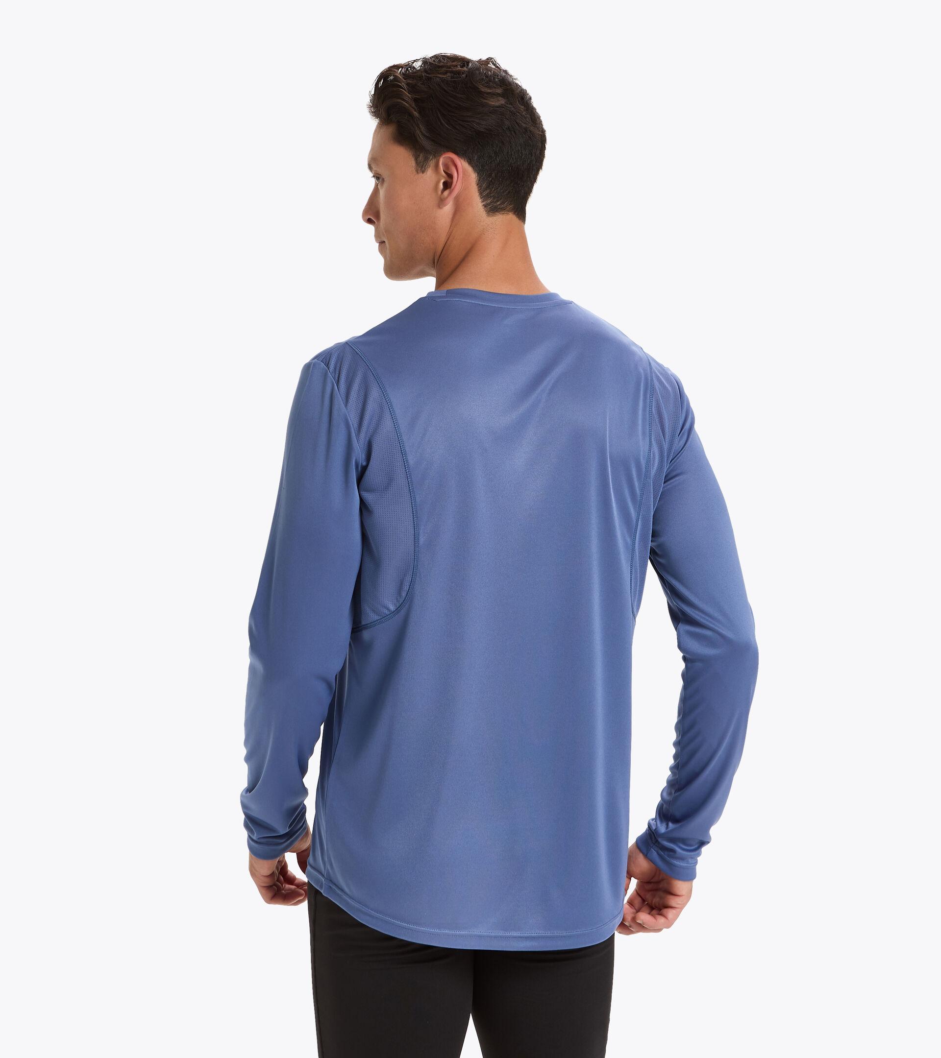 Camiseta para correr - Hombre LS CORE TEE AZUL INFINITO - Diadora