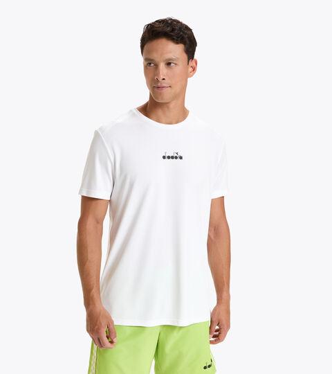 Camiseta de tenis - Hombre SS T-SHIRT EASY TENNIS BLANCO VIVO - Diadora