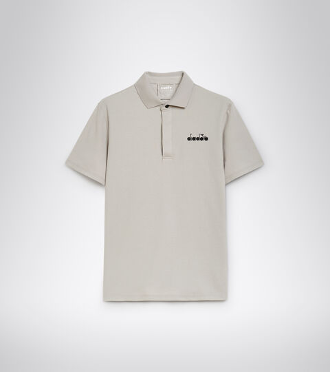 Tennis polo shirt - Men POLO STATEMENT SS OYSTER MUSHROOM - Diadora