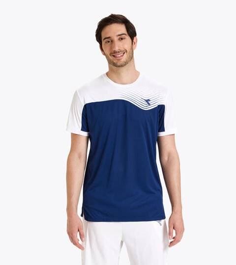 Camiseta de tenis - Hombre T-SHIRT COURT AZUL FINCA - Diadora