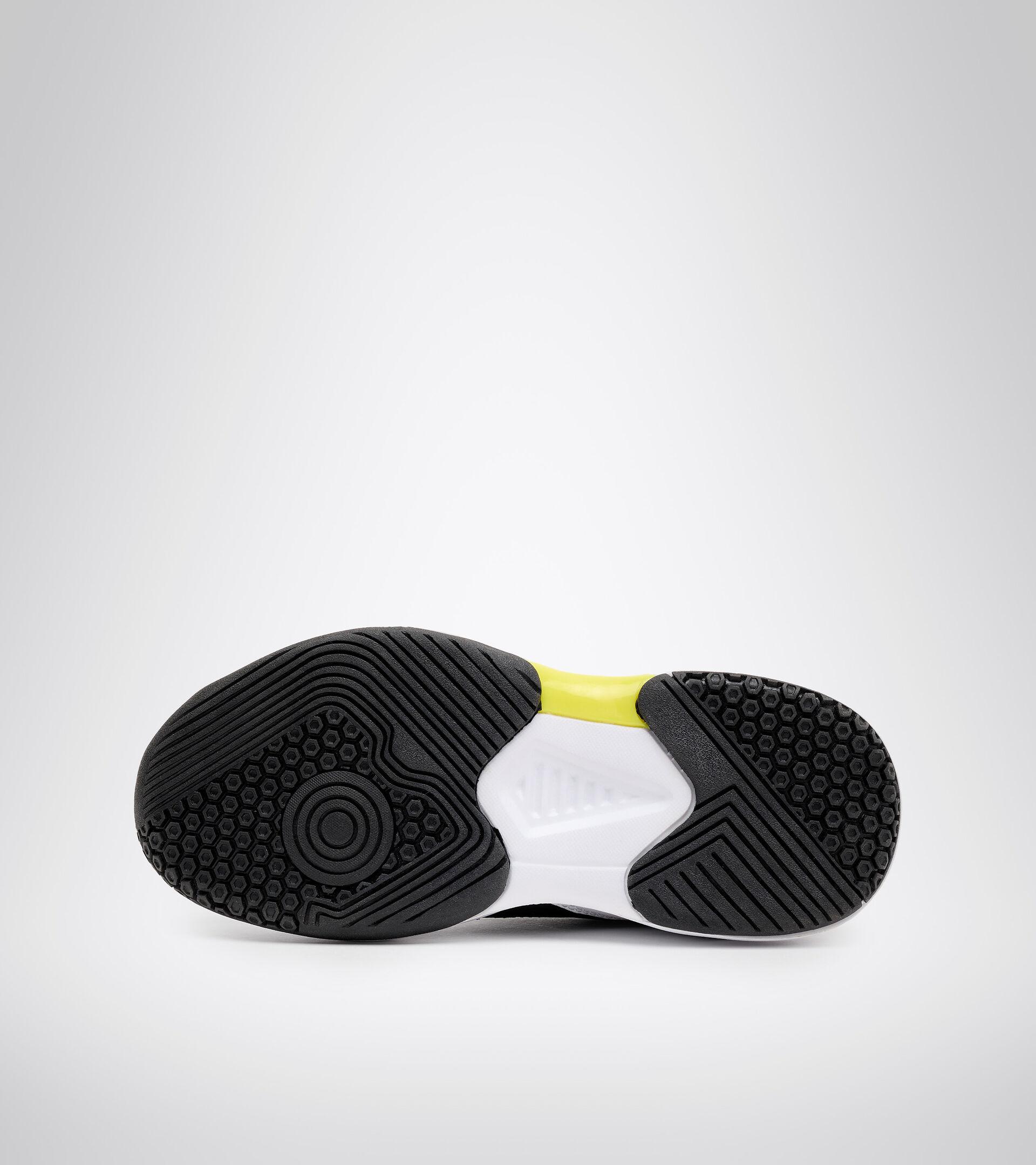 Tennisschuh für harte Böden und Sandplätze - Unisex Kind S. CHALLENGE 3 SL JR WSS/SCHWZ/SCHWEFELQUELLE - Diadora