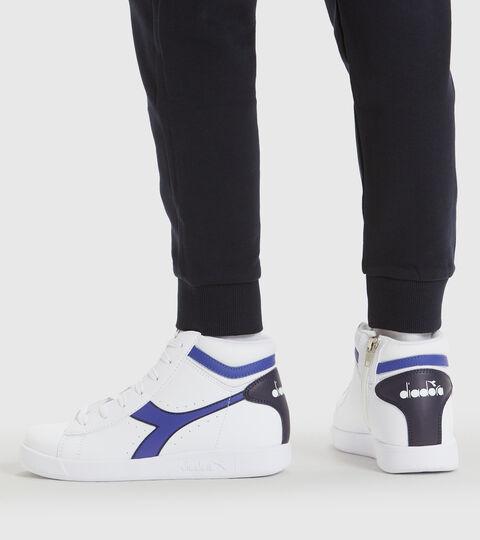 Footwear Sport BAMBINO GAME P HIGH GS BIANCO/BLU CLASSICO Diadora
