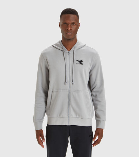 Hooded sweatshirt - Men HOODIE FZ CORE GRAY MOUSE - Diadora