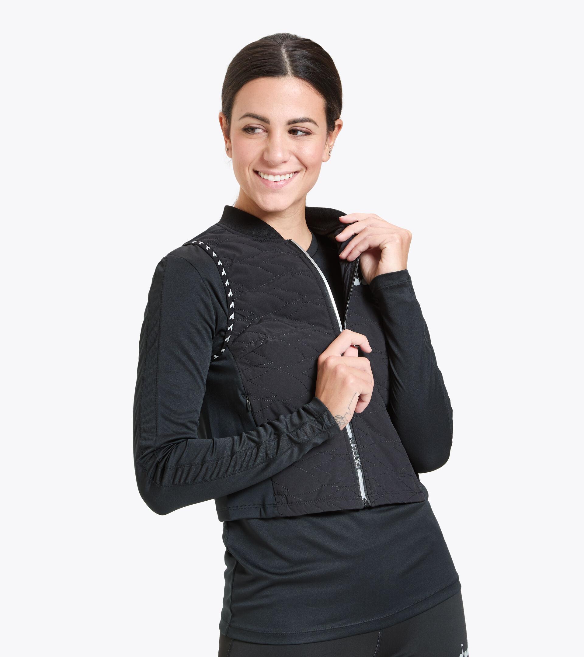 Gilet antivento da running - Donna L. URBAN VEST BE ONE NERO - Diadora