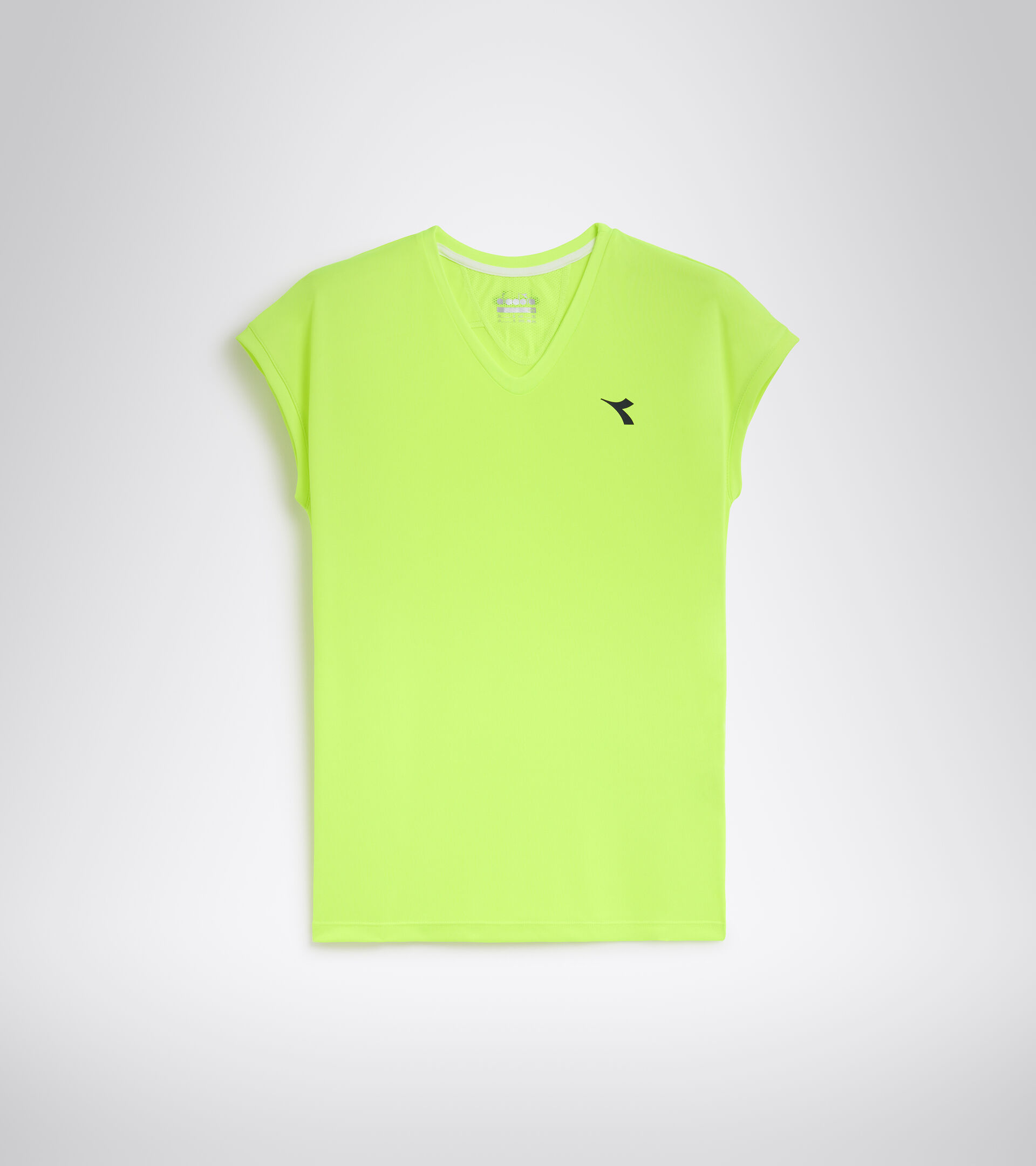 Camiseta de tenis - Mujer L. T-SHIRT TEAM AMARILLO FLUO DD - Diadora