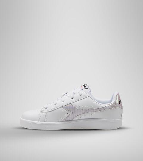 Footwear Sport BAMBINO GAME P GS GIRL WHITE/ORCHID BLOOM Diadora