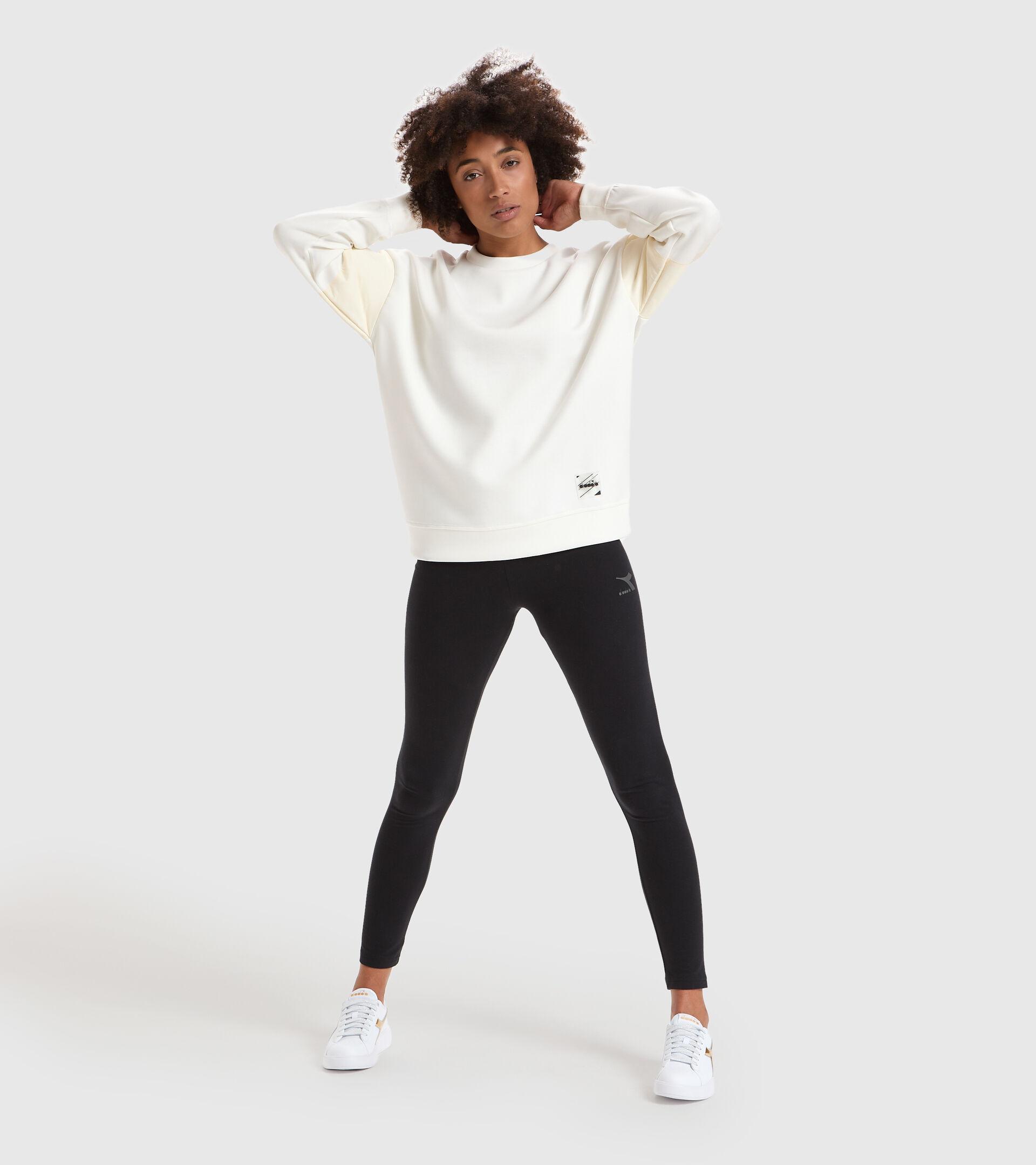 Apparel Sportswear DONNA L. SWEATSHIRT CREW URBANITY WHITE Diadora