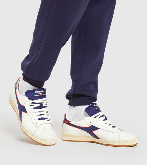 Footwear Sportswear UNISEX GAME L LOW ICONA WHITE/TWILIGHT BLUE Diadora