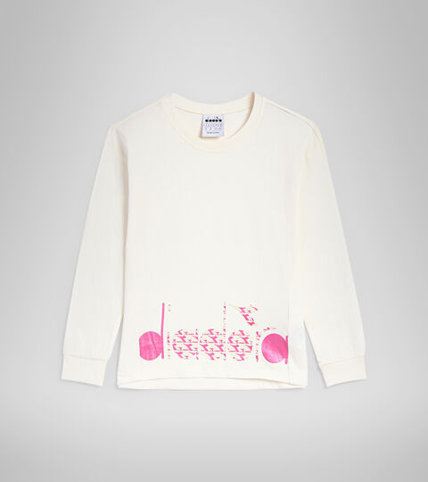 T-shirt à manches longues - Garçon JG.T-SHIRT LS TWINKLE BLANCHE MURMURE - Diadora