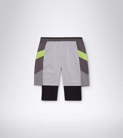 Shorts para correr - Hombrer POWER SHORTS BE ONE GRIS ALEACION - Diadora