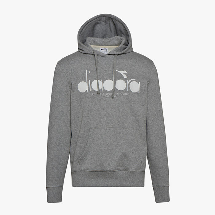 HOODIE 5PALLE, LIGHT MIDDLE GREY MELANGE , large