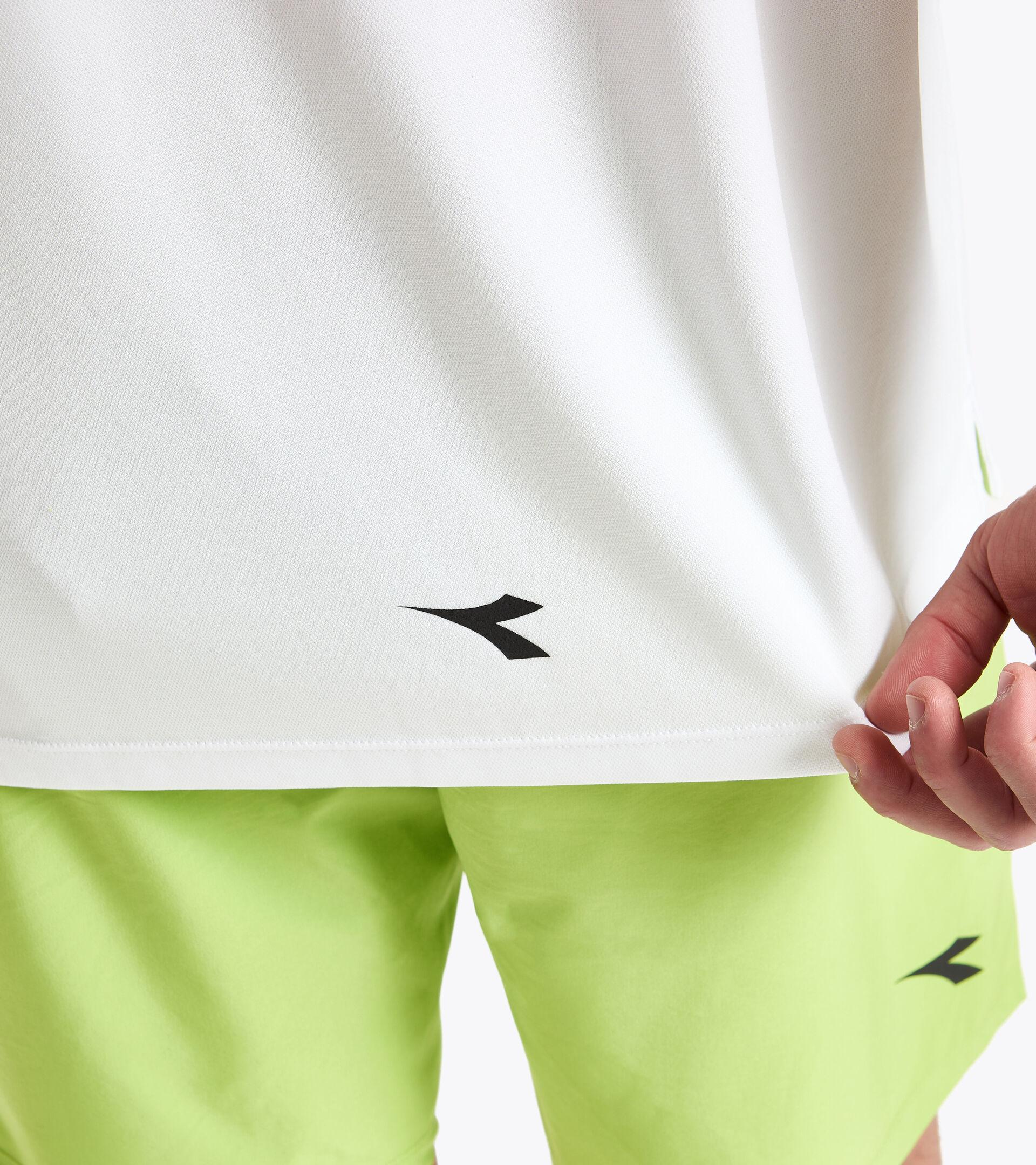 Tennis T-shirt - Men SS T-SHIRT EASY TENNIS OPTICAL WHITE - Diadora