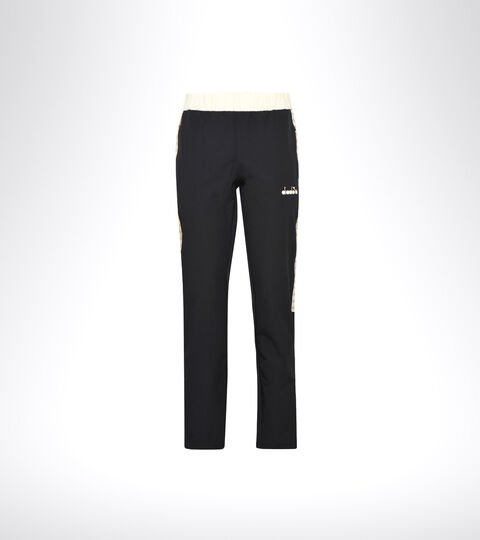 Tennis trousers - Women L. PANTS CHALLENGE BLACK/MAHOGANY ROSE - Diadora