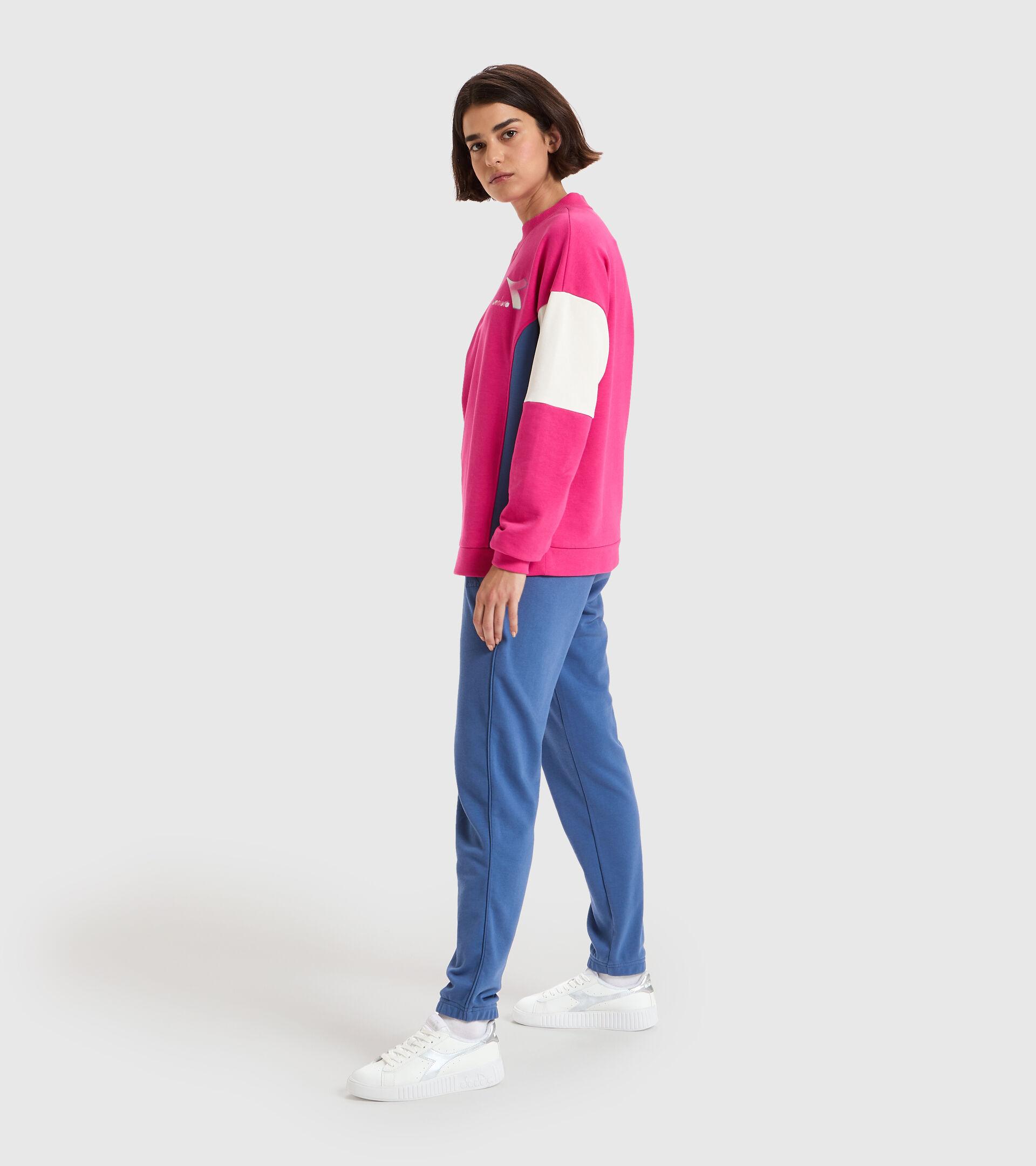 Sweater mit Rundhalsausschnitt - Damen L.SWEATSHIRT CREW LUSH MAGENTAROT - Diadora