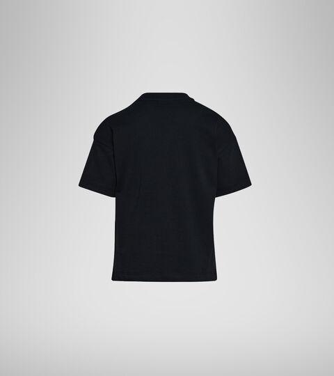 T-shirt with logo - Boys and girls JU. T-SHIRT SS ELEMENTS BLACK - Diadora