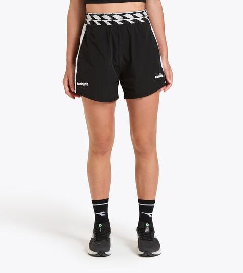 Training Shorts - Women L. SHORT 9CM BUDDYFIT BLACK - Diadora