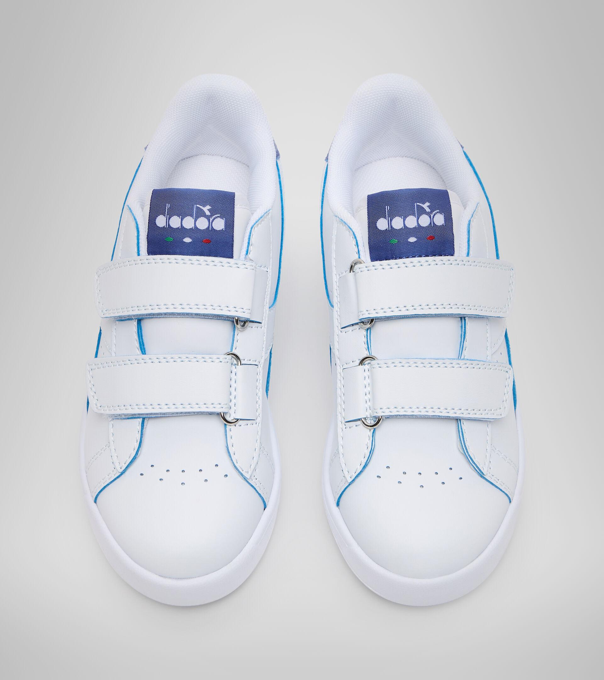 Footwear Sport BAMBINO GAME P SMASH PS WHITE/BLUE EYES Diadora