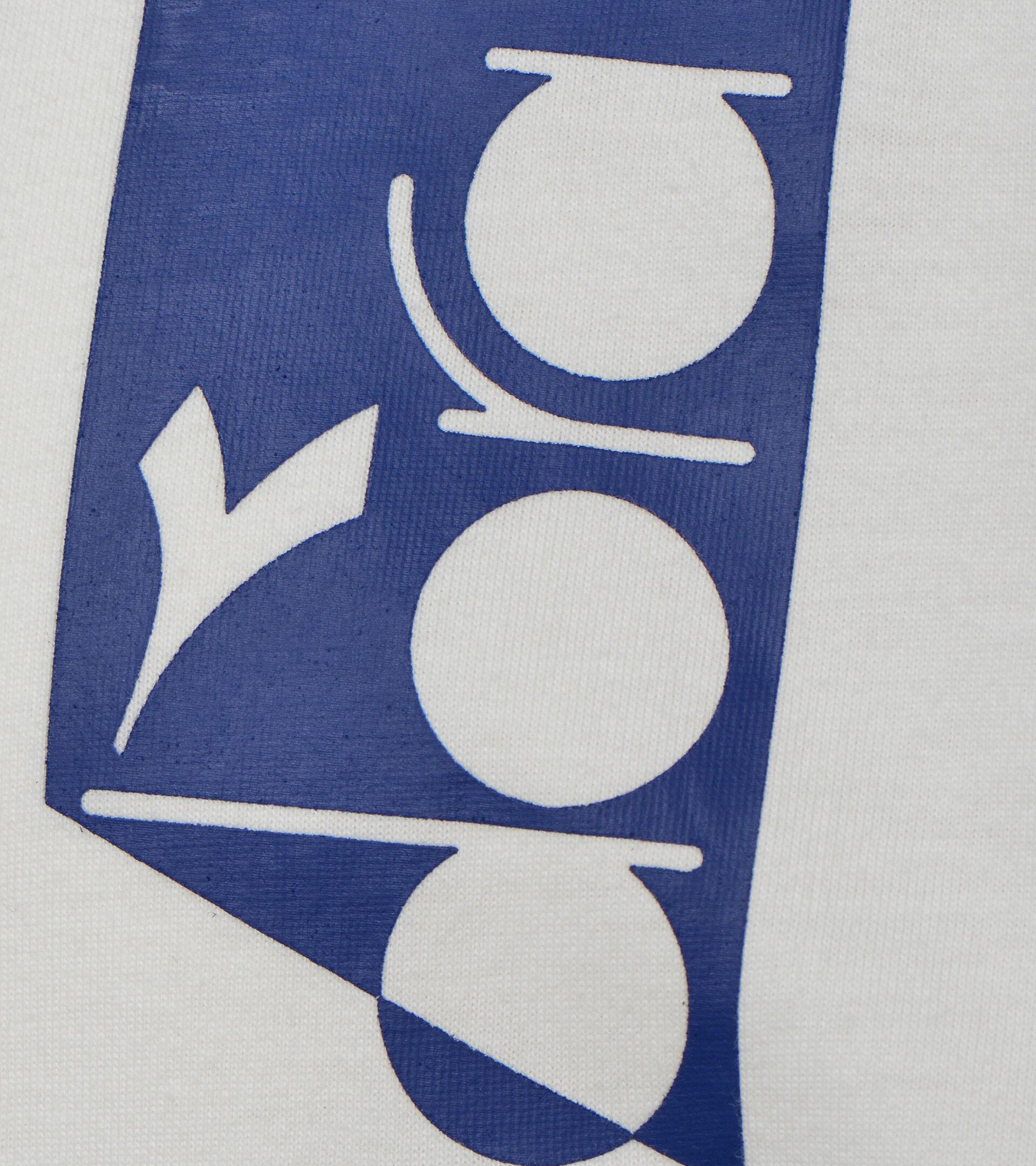 Apparel Sportswear UOMO T-SHIRT SS ICON WHITE MILK Diadora