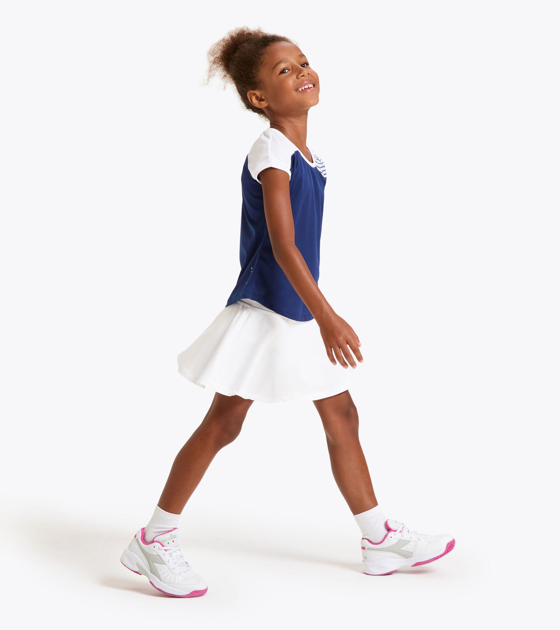 Tennis T-shirt - Junior G. T-SHIRT COURT SALTIRE NAVY - Diadora